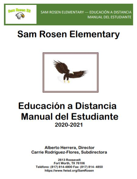 Educación a Distancia Manual del Estudiante