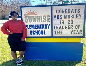 Congratulations, Mrs. Mary Mosley, Teacher of the Year!