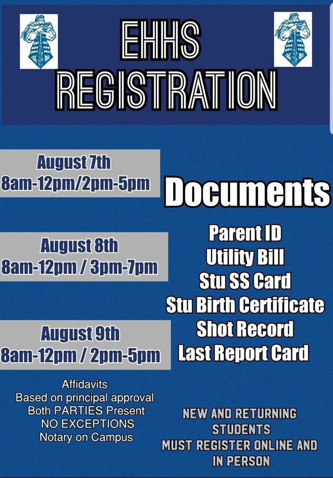Important Registration Information for New and Returning Students