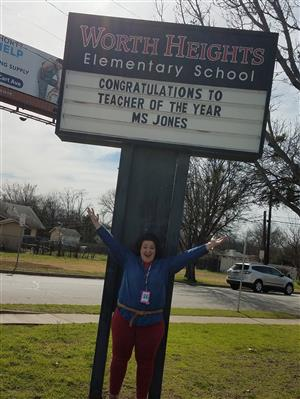Congratulations Ms. Jones-Teacher of the Year!