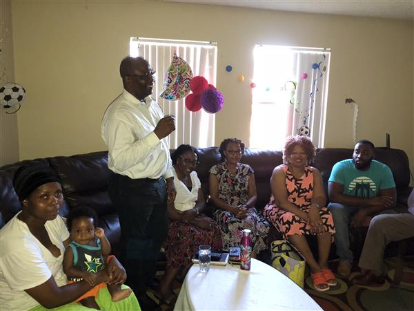 First African Baptist Church visits family