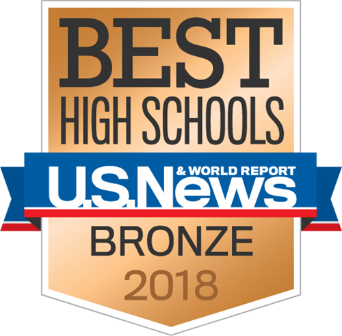 U.S. NEWS AND WORLD REPORT AWARDS A BRONZE MEDAL TO MARINE CREEK COLLEGIATE HIGH SCHOOL