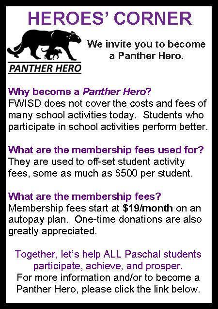 Become a Panther Hero