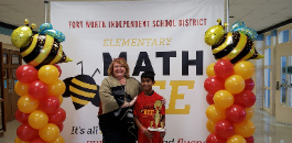 Tanglewood ES Student Clinches FWISD Elementary Math Bee Crown