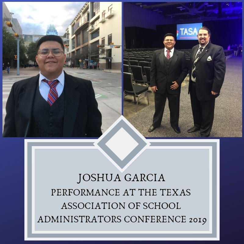 Joshua Garcia Sings Before Texas Superintendents