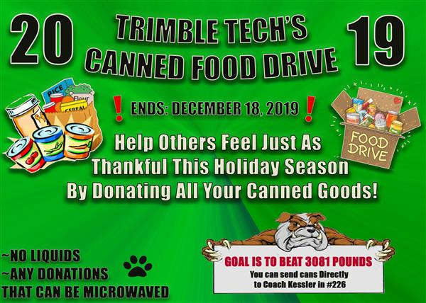 Canned Food Drive 2019