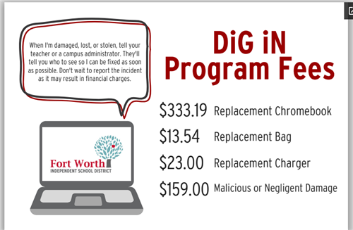 DiG iN Program Fees