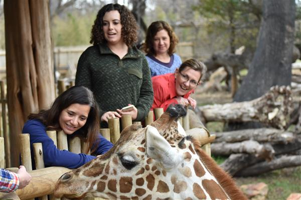 Carlson staff PD at the FW Zoo