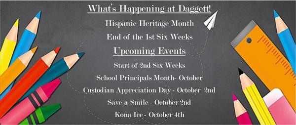 What's Happening at Daggett!