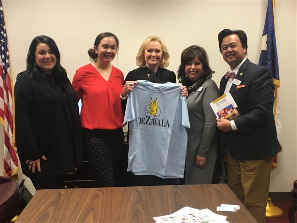 Senator Beverly Powell shows support for DeZavala