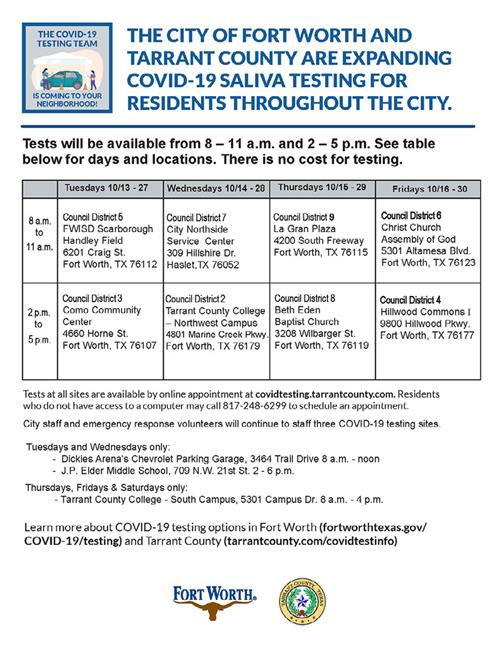 City, County Announce This Week's COVID 19 Testing Sites
