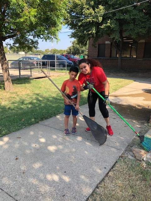 Meadowbrook Elementary Garden Clean-up Day!